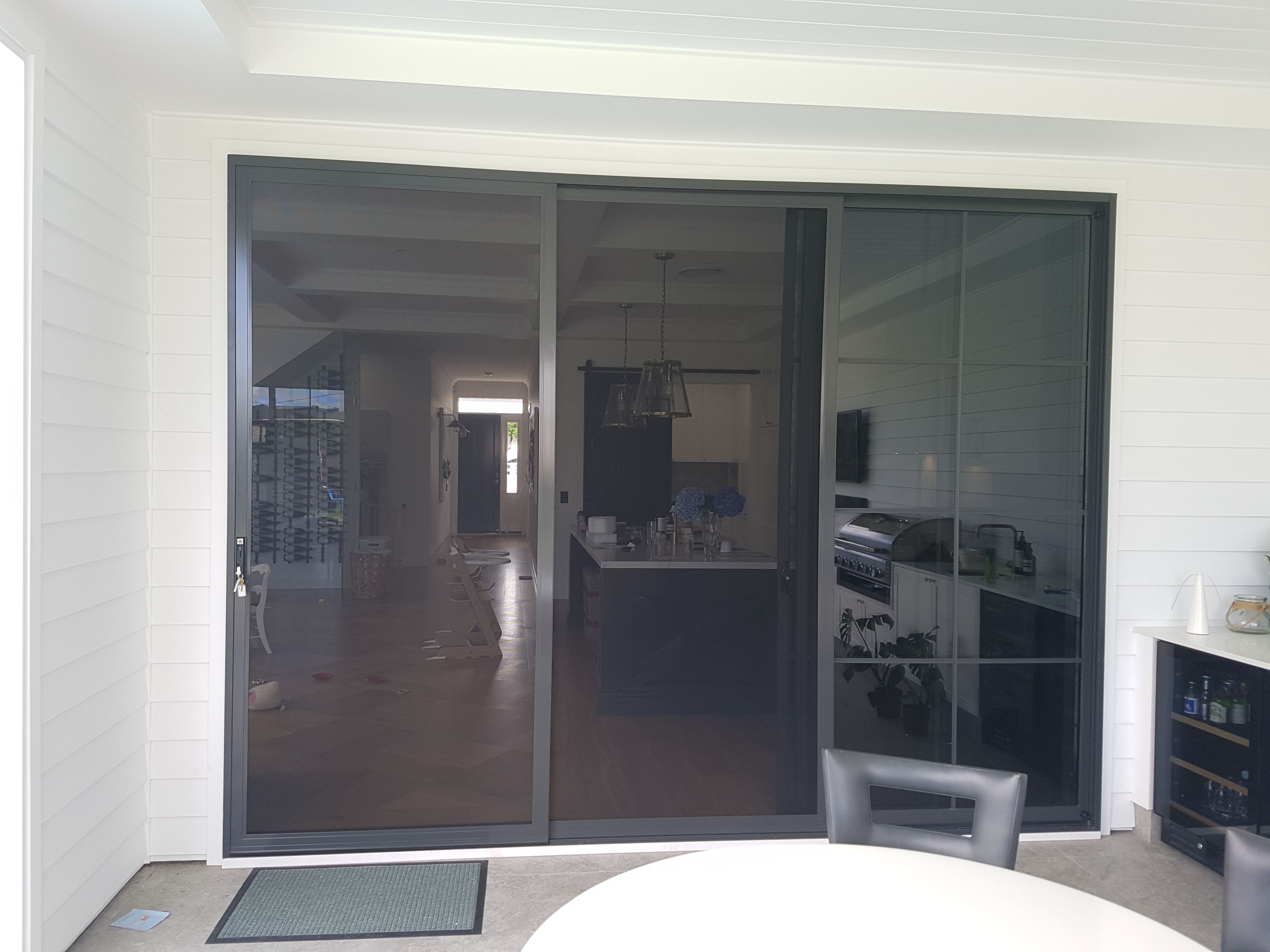 Prowler Proof double stacking sliding security doors