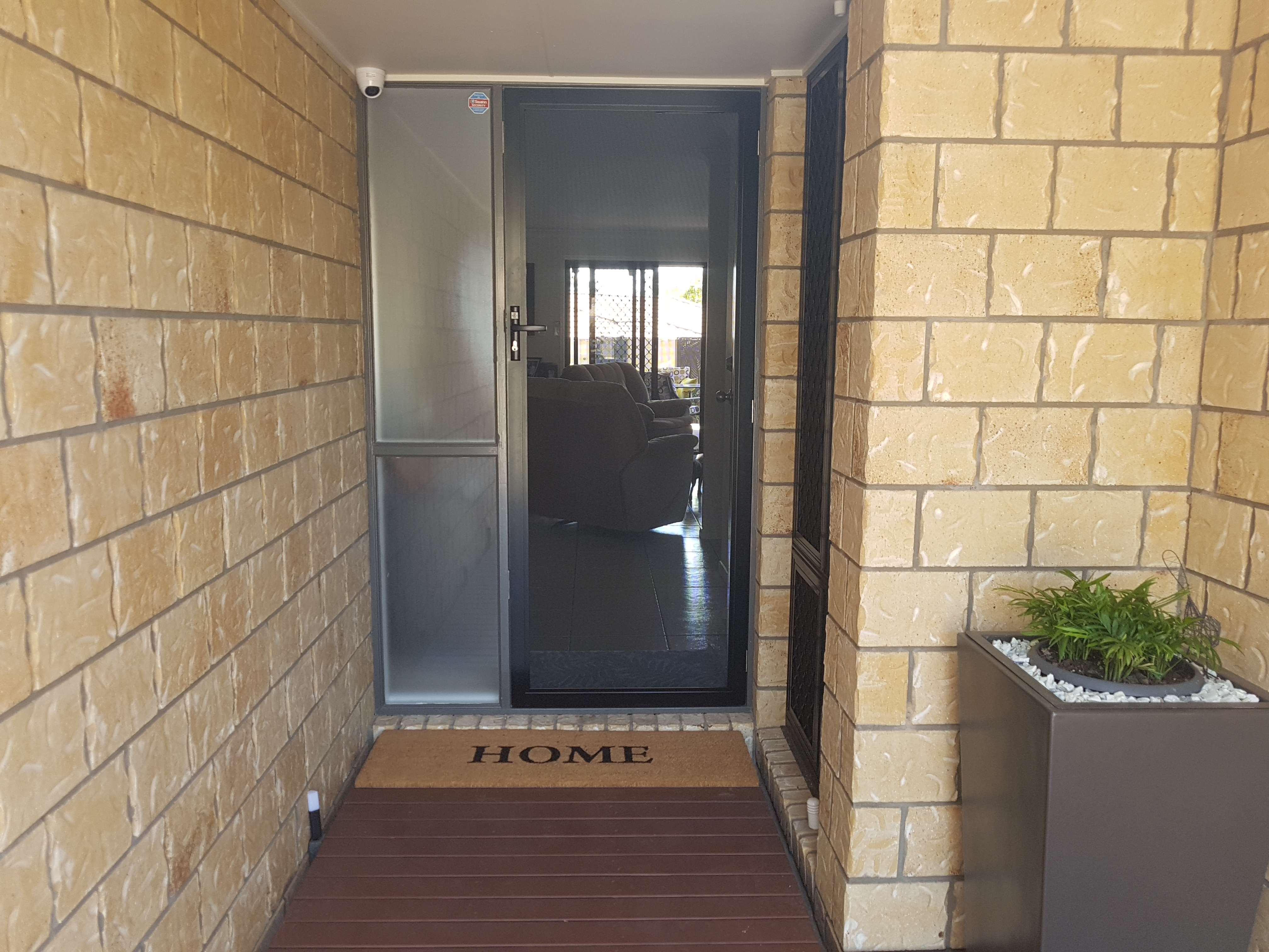Security doors in stainless steel mesh allow breezes into your home