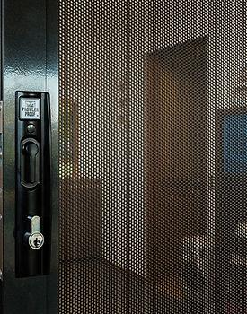 Prowler Proof perforated mesh Protec security sliding door