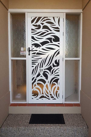 Decoview lasercut aluminium security Feather