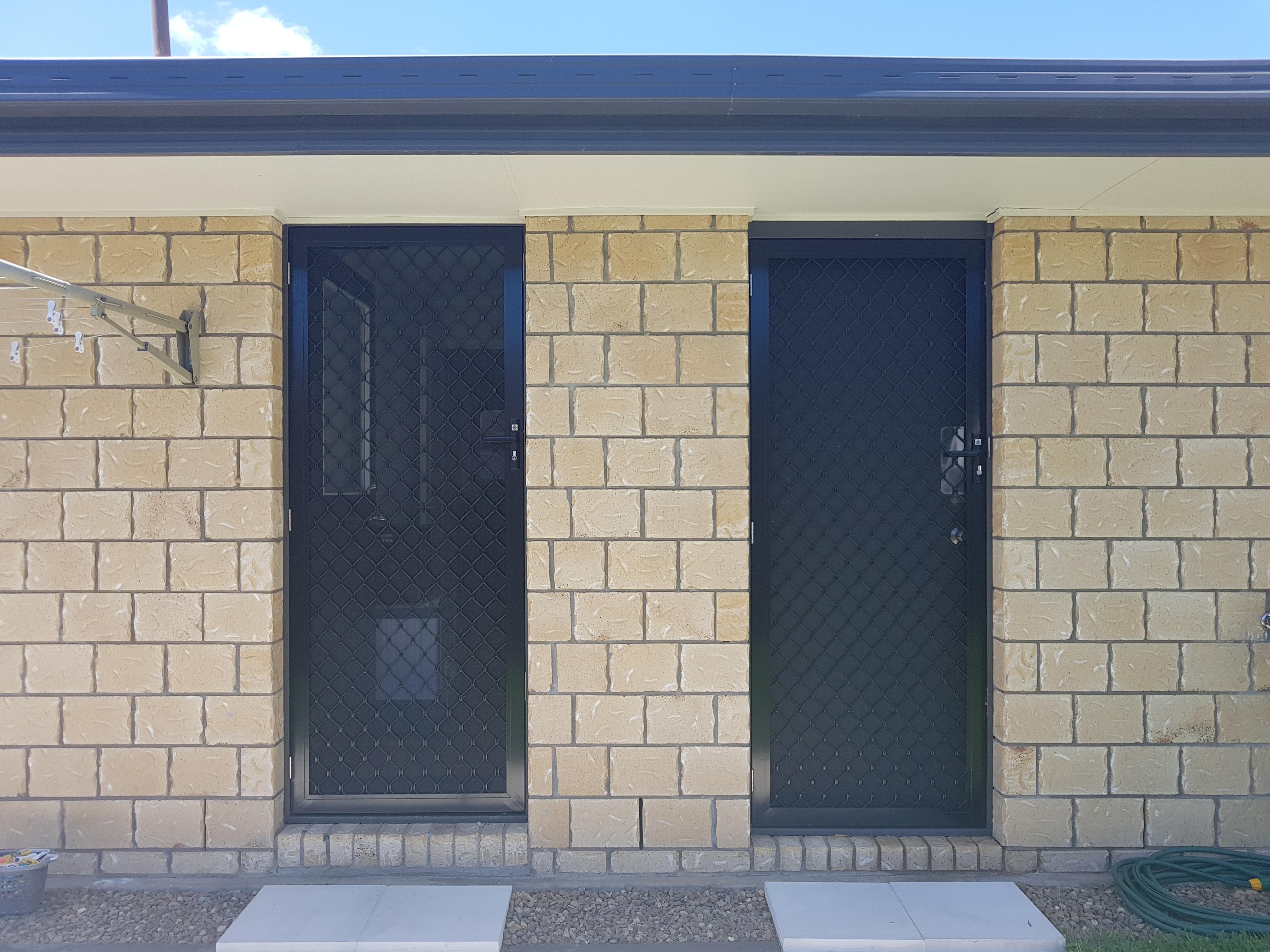 Diamond grille security doors, Warner