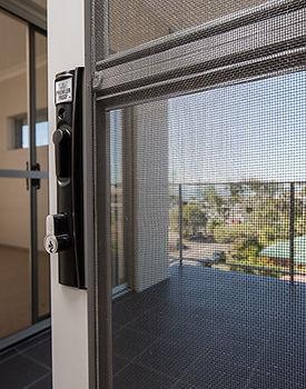 Flyscreen insect mesh sliding door