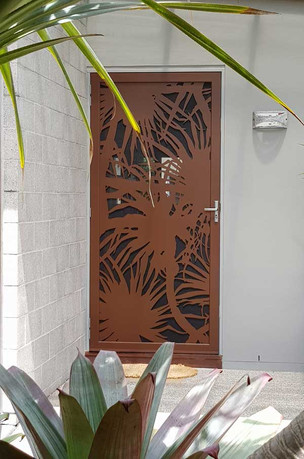 Decoview lasercut aluminium security Pandanus