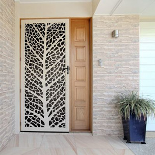 Decoview lasercut aluminium security Leaf Vein