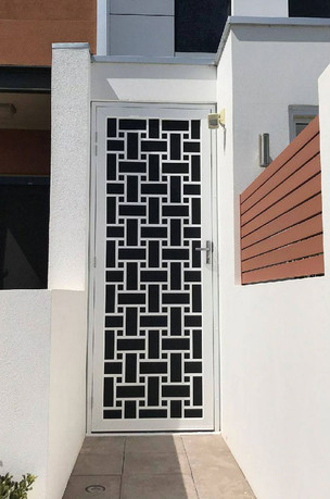 Decoview lasercut aluminium security Block City
