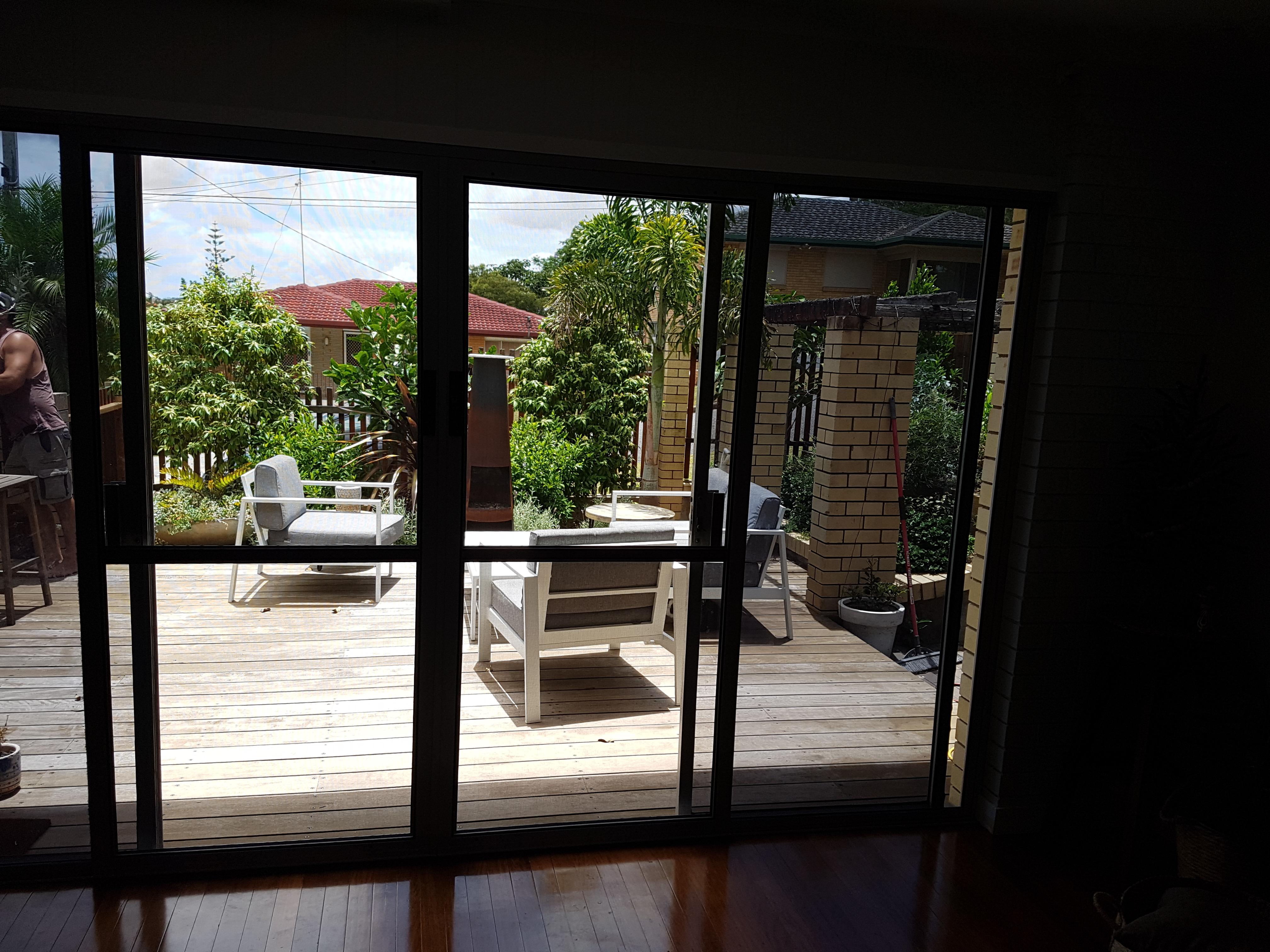 View through flyscreen doors, Tarragindi