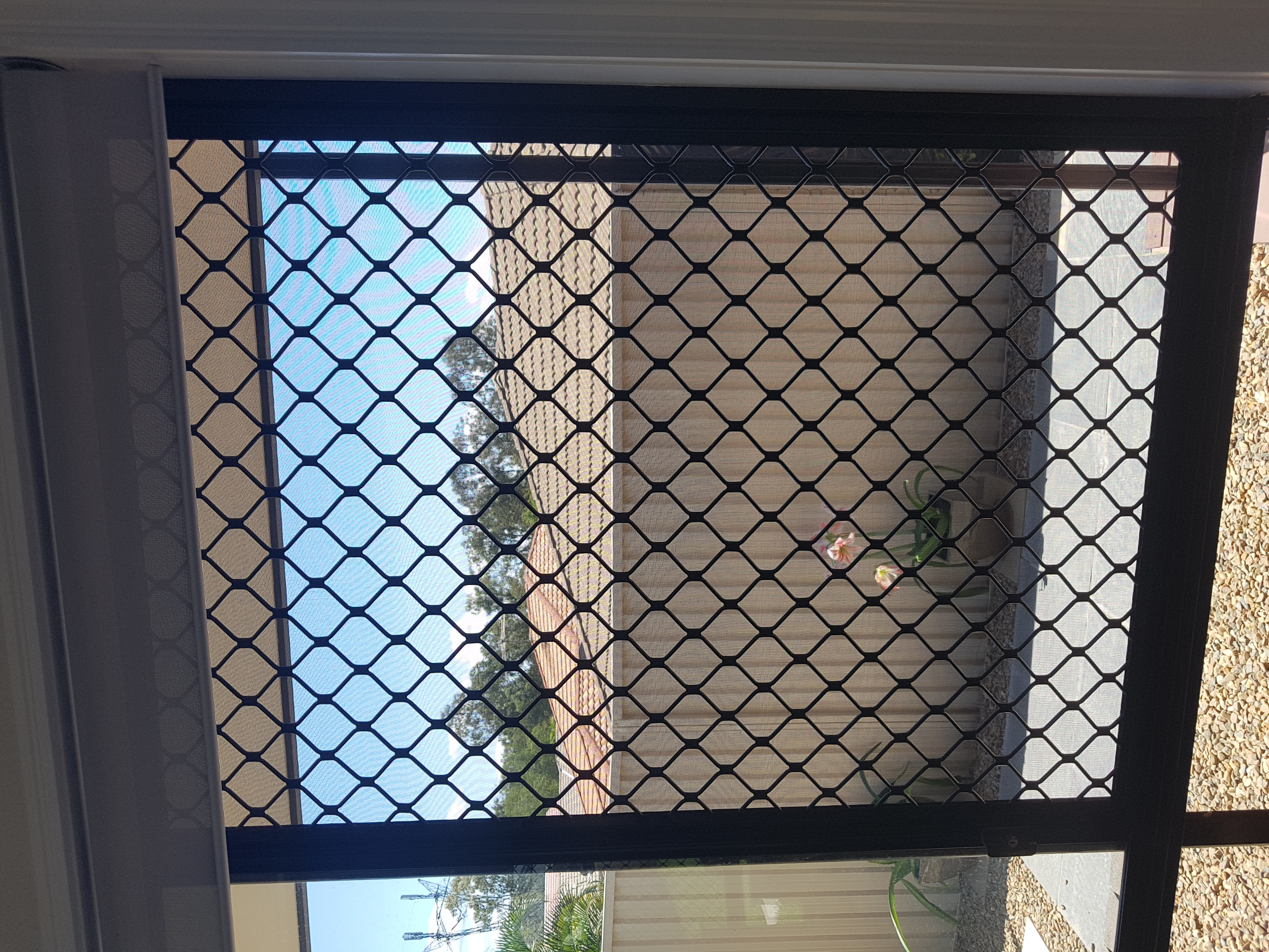 Diamond grille security screens can be remeshed and refurbished