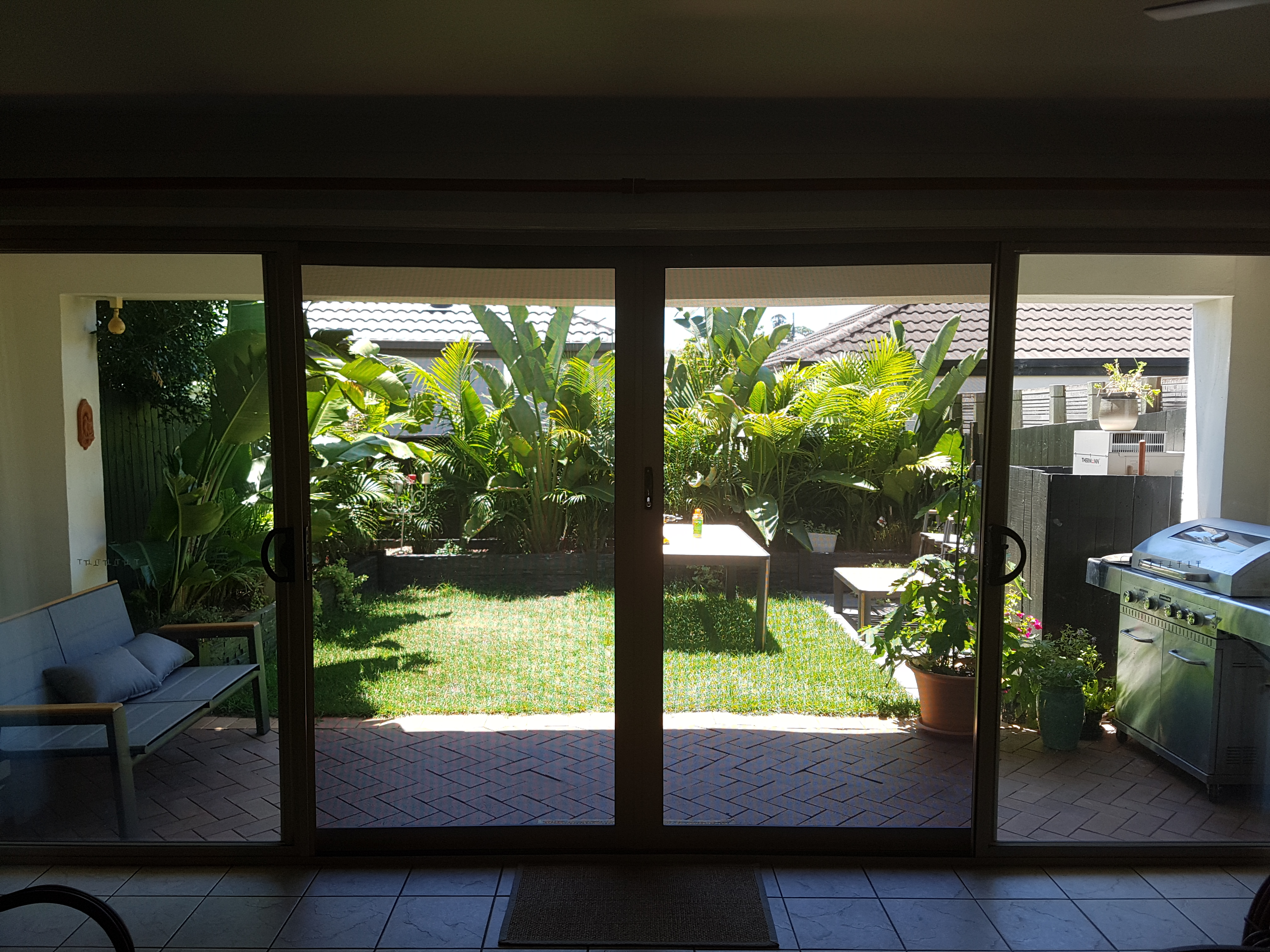 Stainless steel security doors allow great views