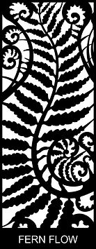 Fern Flow - Decoview lasercut security door design