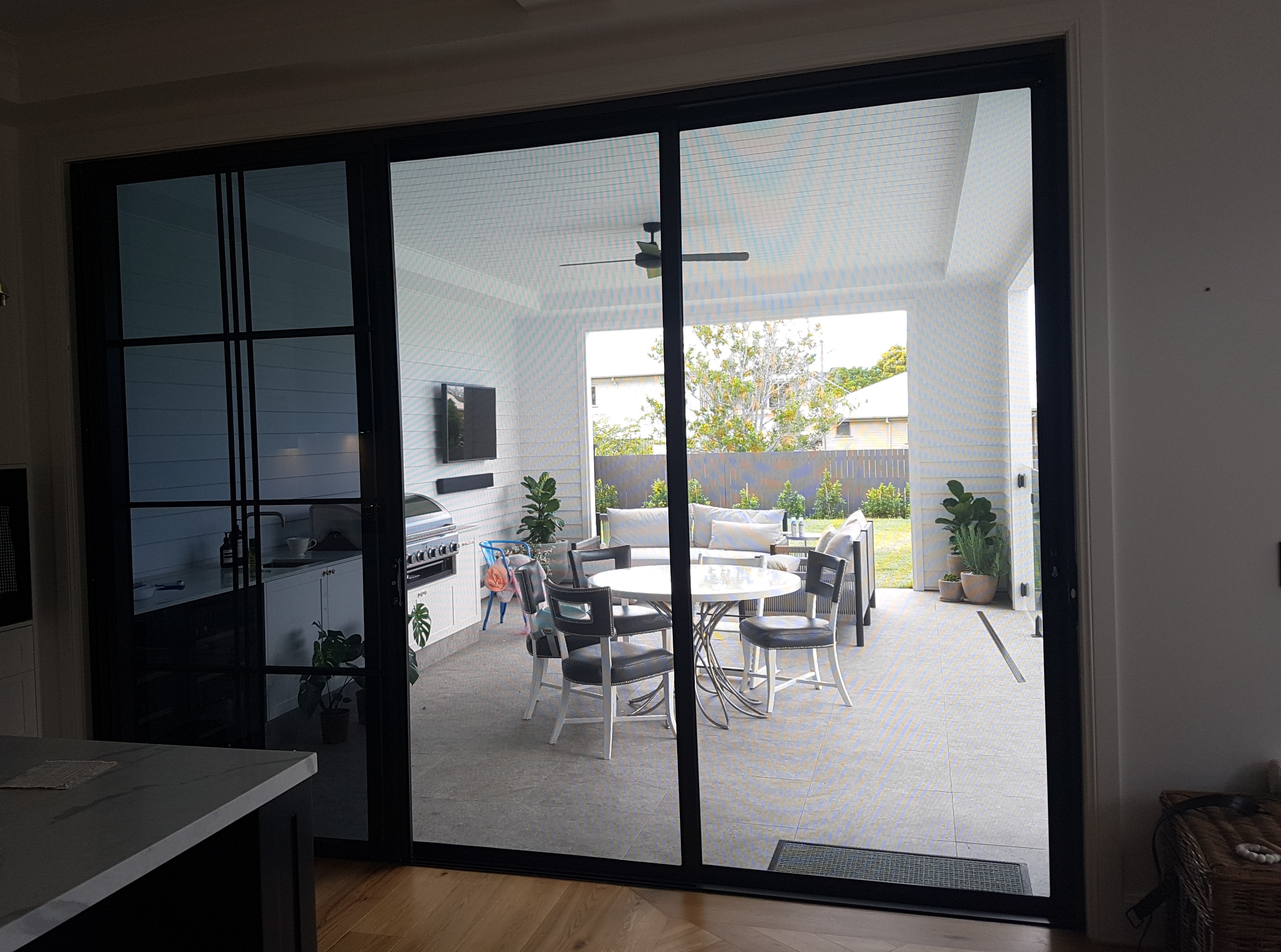 Camp Hill Forcefield double stacking security doors