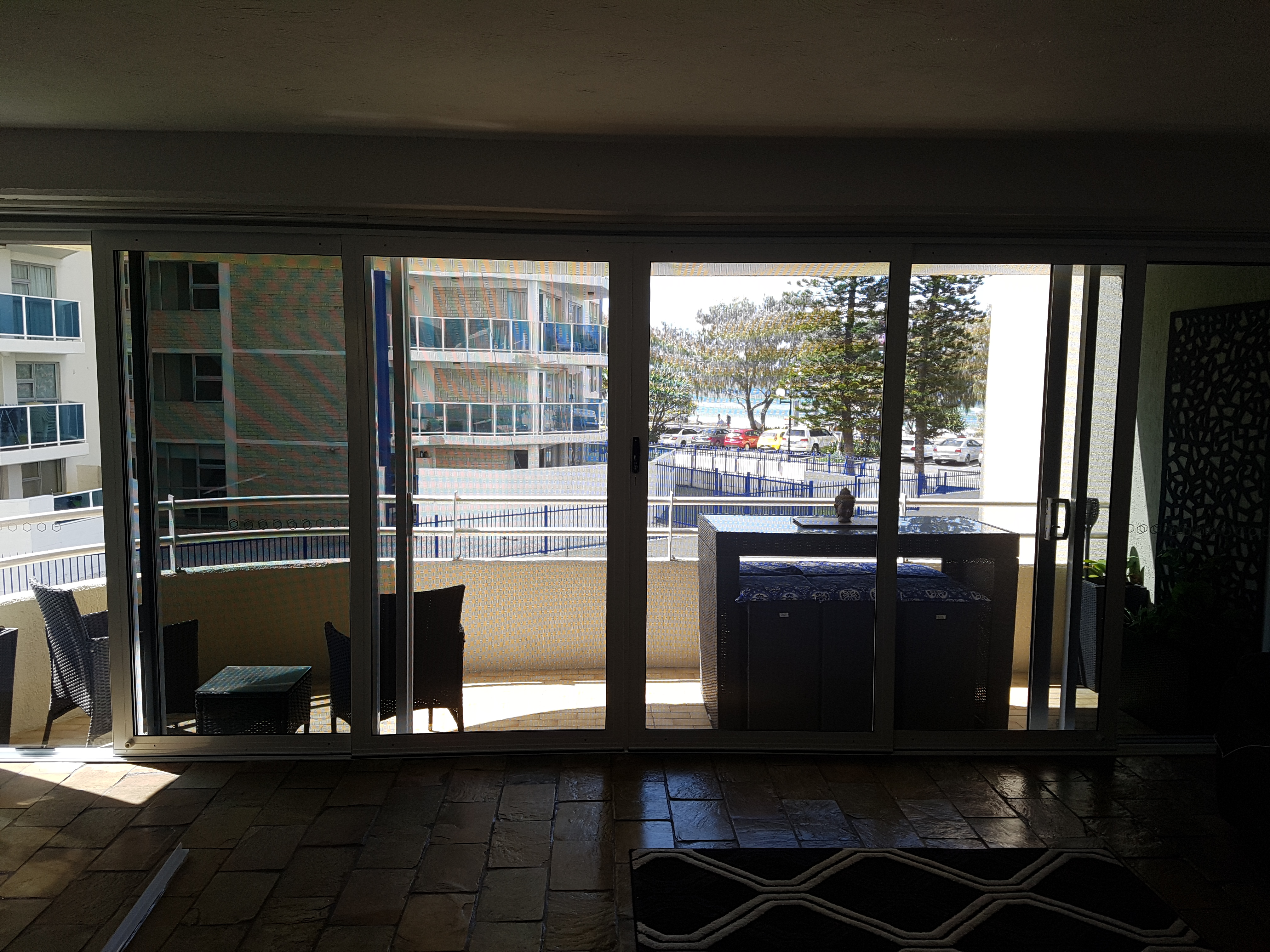 View through security doors, Surfers Paradise