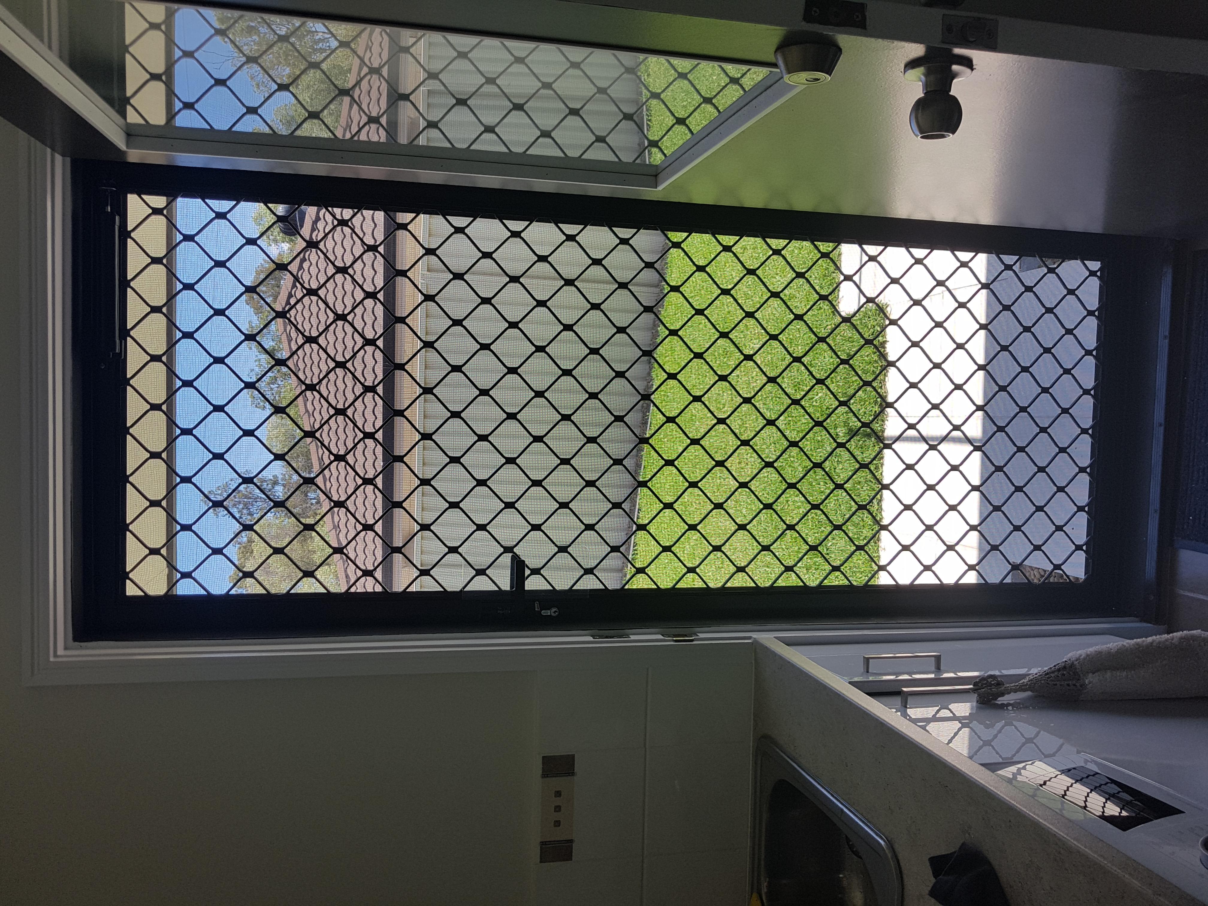 Cheaper security door options include diamond grille doors