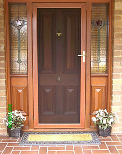 Panther Protect stainless steel mesh security door hinged front door