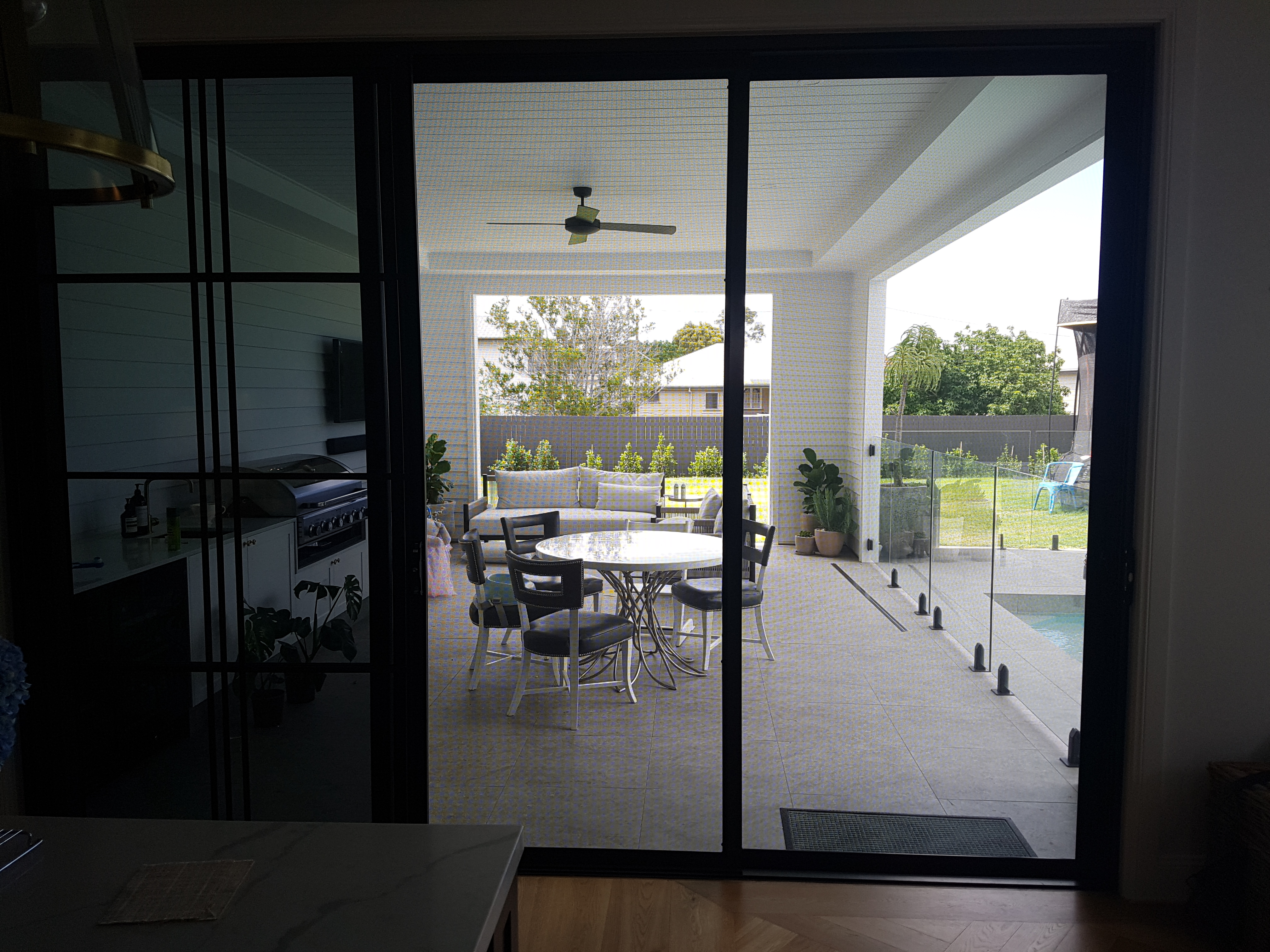 Enjoy a clear view through stainless steel security doors