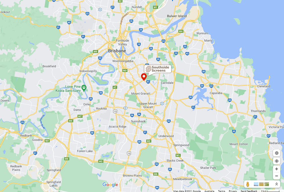 Map showing location of Southside Screens in Holland Park Brisbane.png