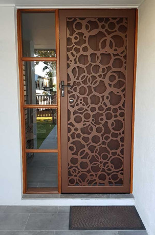Decoview lasercut aluminium security Bubbles