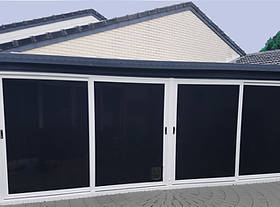 Patio enclosure in Carindale, front view