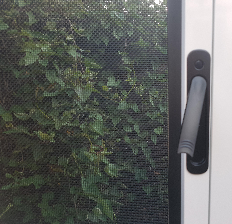 Hinged window handle up Prowler Proof