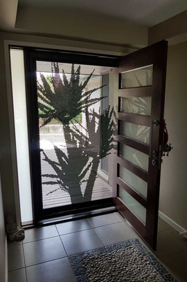 Decoview perforated aluminium mesh security door Yukka