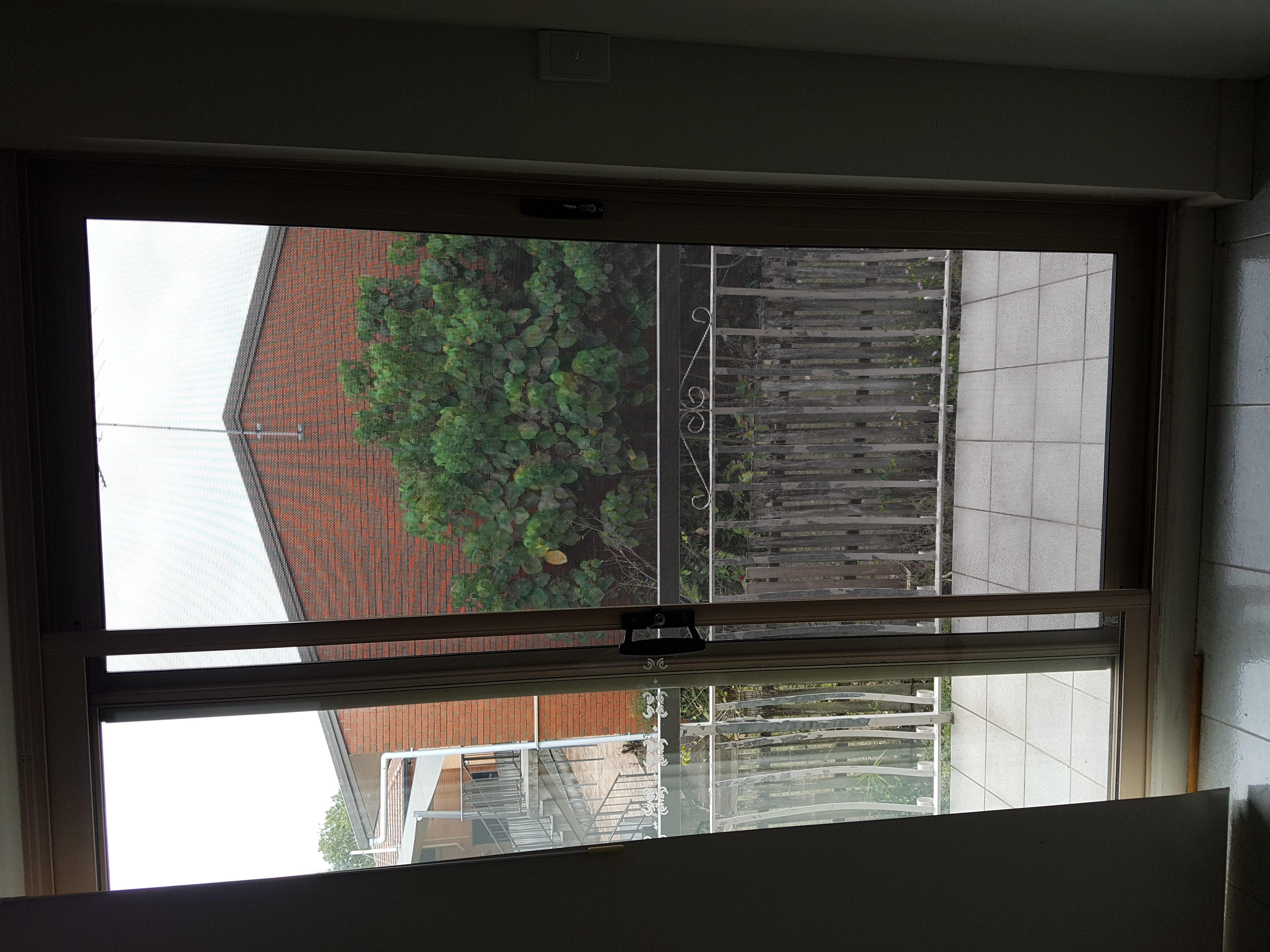 View through Panther Protect security door stainless steel mesh