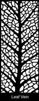 Leaf Vein - Decoview lasercut security door design
