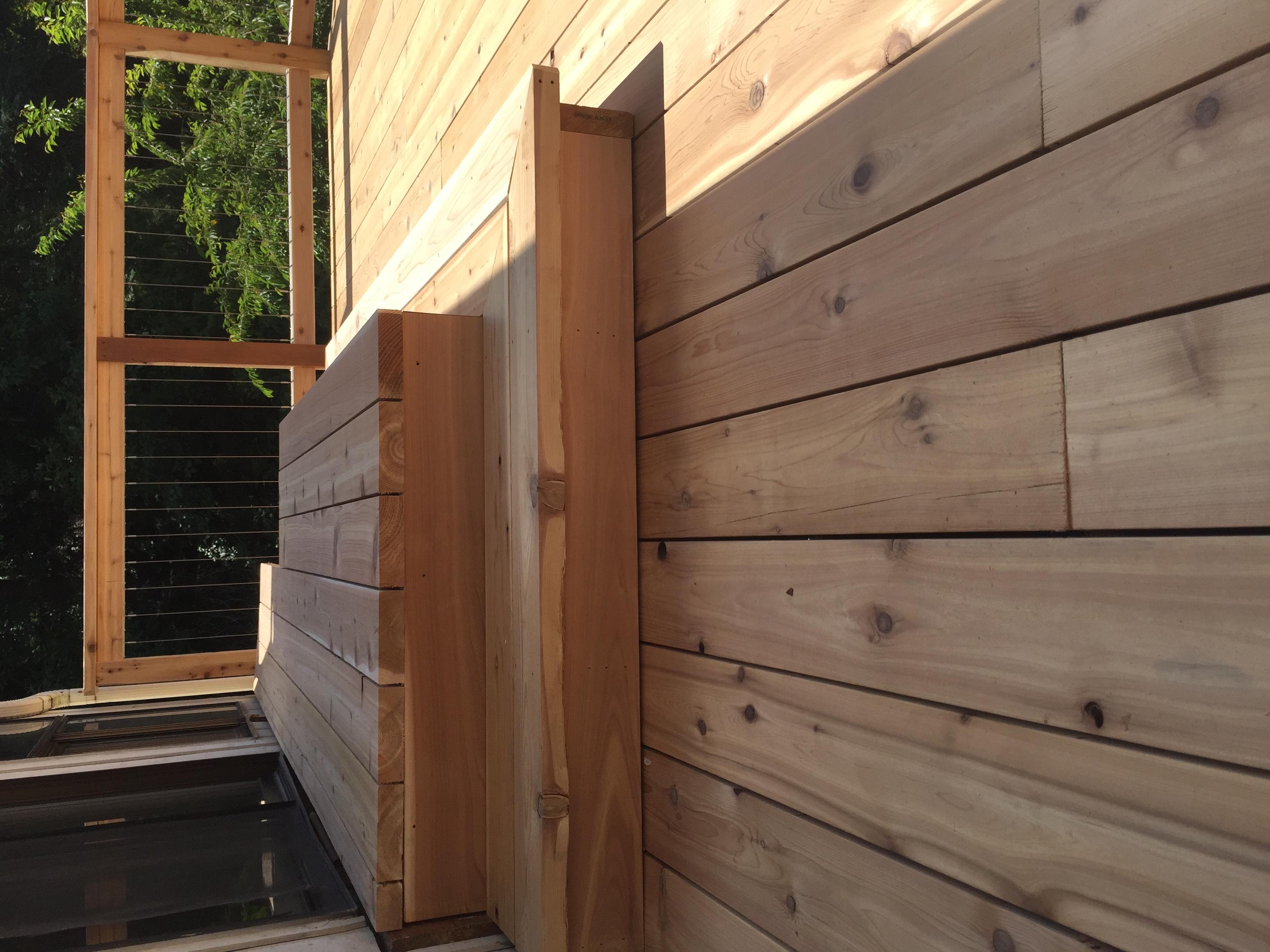 Cedar Deck Steps