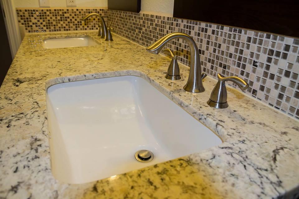 Bathroom decorative tile backsplash