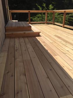 Cedar Deck and Steps