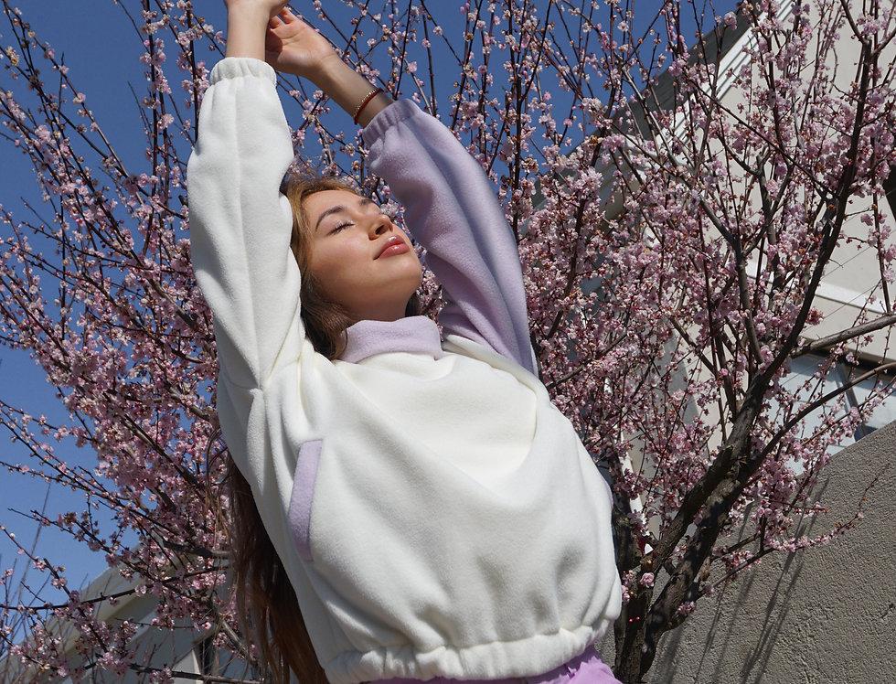 lilac hoodie