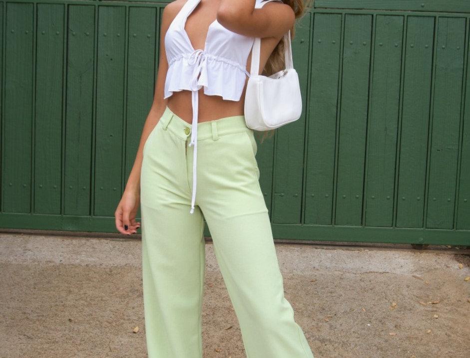 pistachio pants
