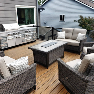 trex decking, trex glass railing