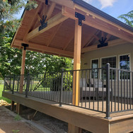 trex decking/railing and a cover