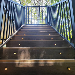 trex decking, lighting, railing