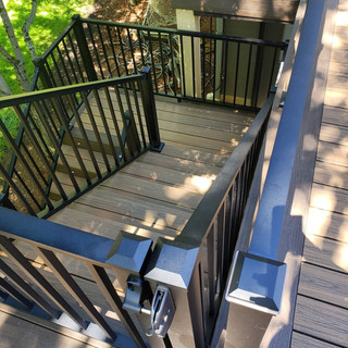 trex decking/ railing and lighting