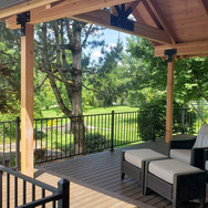 trex decking, railing and cover