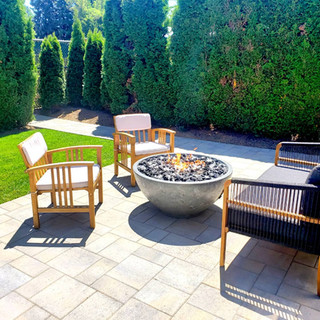 paver patio and fire bowl