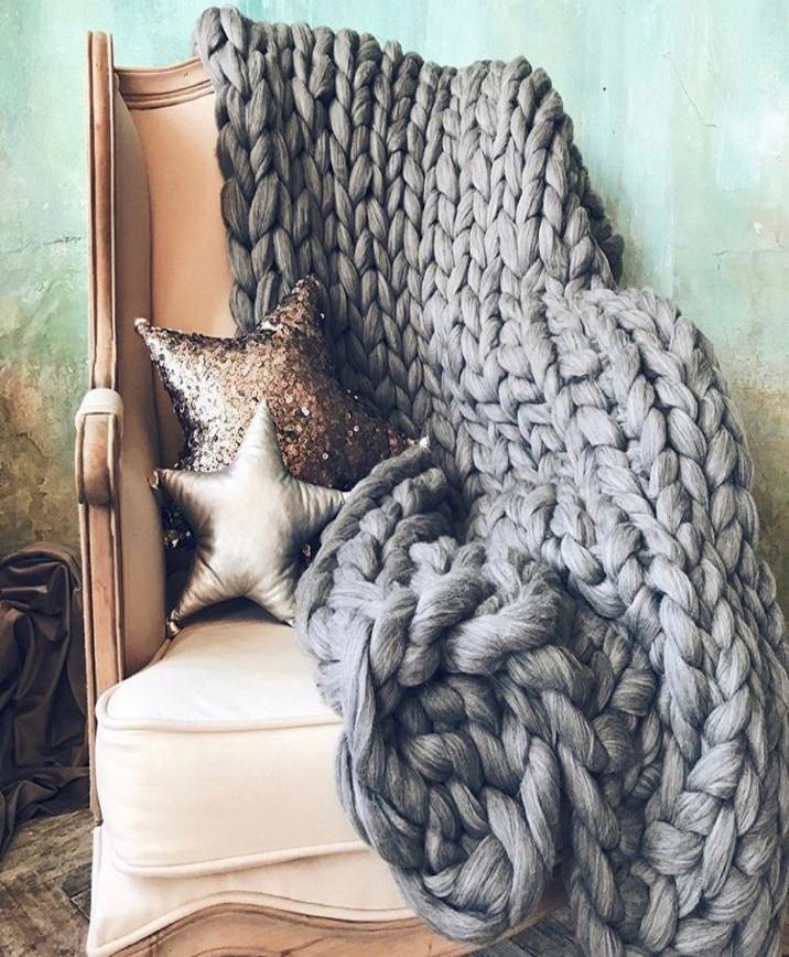 Плед из шерсти мериноса
