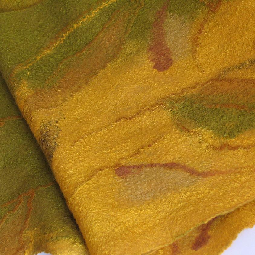 Мастер-класс по валянию дизайнерского шарфа/палантина.