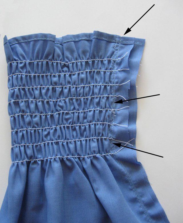 Стяжка резинки в одежде