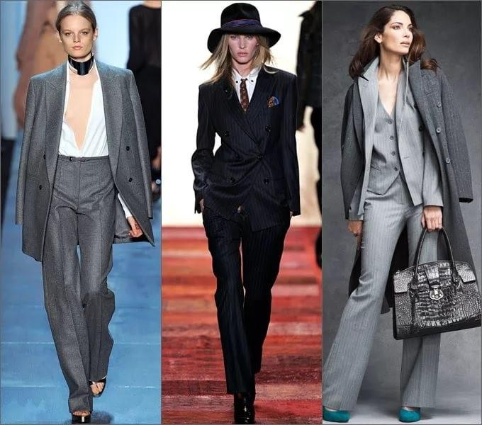 Мужские костюмы в женской моде