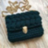 сумка из трикотажной пряжи