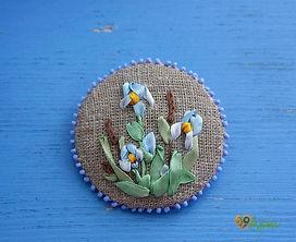 Вышивка лентами панно
