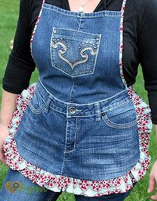 Новая вещь из старых джинсов