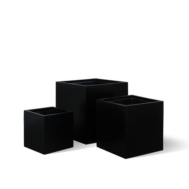 AP788 Cube Planter Matt Black