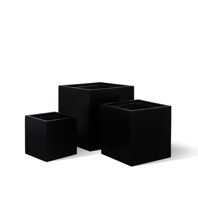 AP788 Cube Planter Matt Black