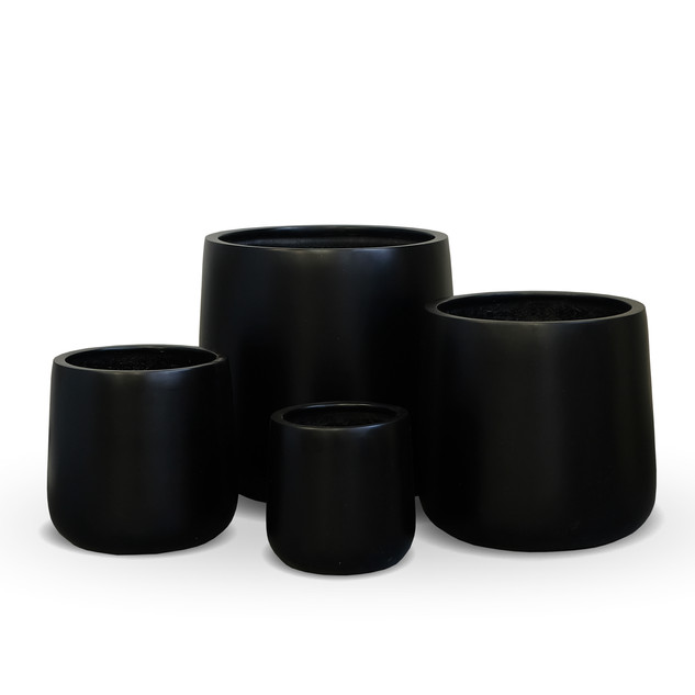 AP631 Cylinder Pot Matt Black