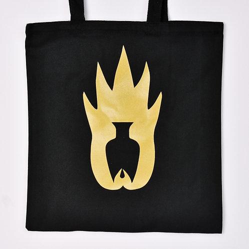 Logo Tote - Black & Gold