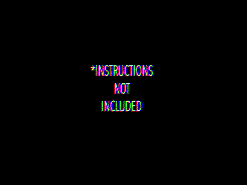 *instructions not included