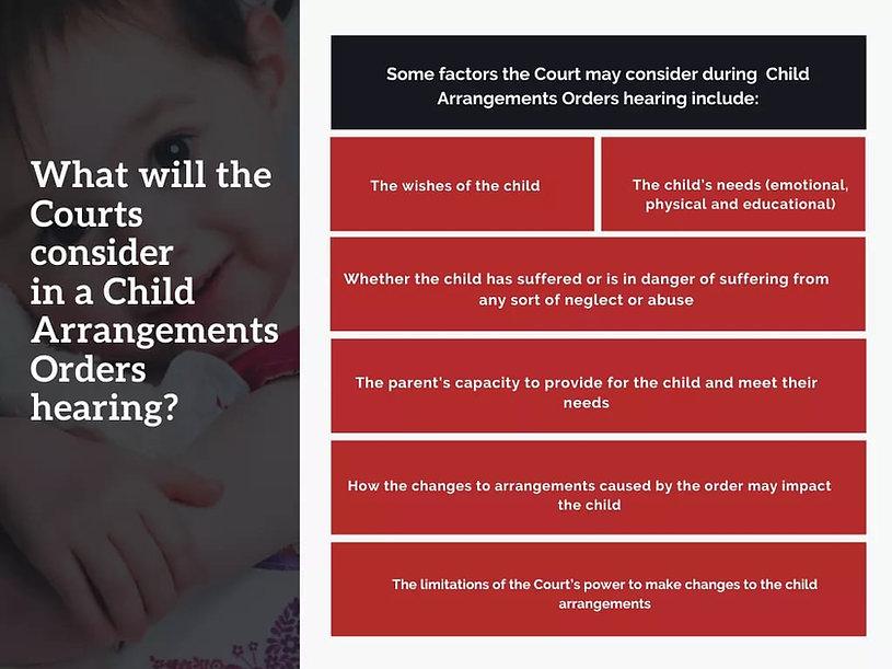 Child Custody Welfare Checklist the court considers