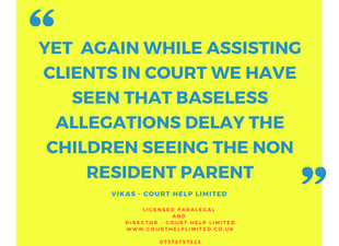 Failure of Family Courts to order Contact between child and parent? Or Due diligence?